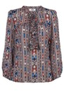 Julia Printed Blouse - Evening Blue additional image