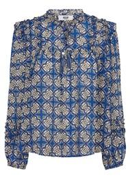 MOLIIN Nicole Printed Blouse - Mazarine Blue