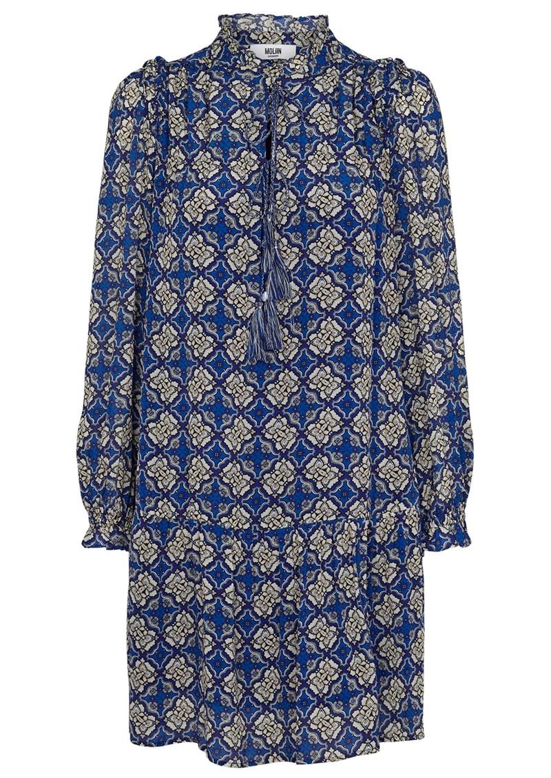 MOLIIN Melissa Printed Dress - Mazarine Blue main image