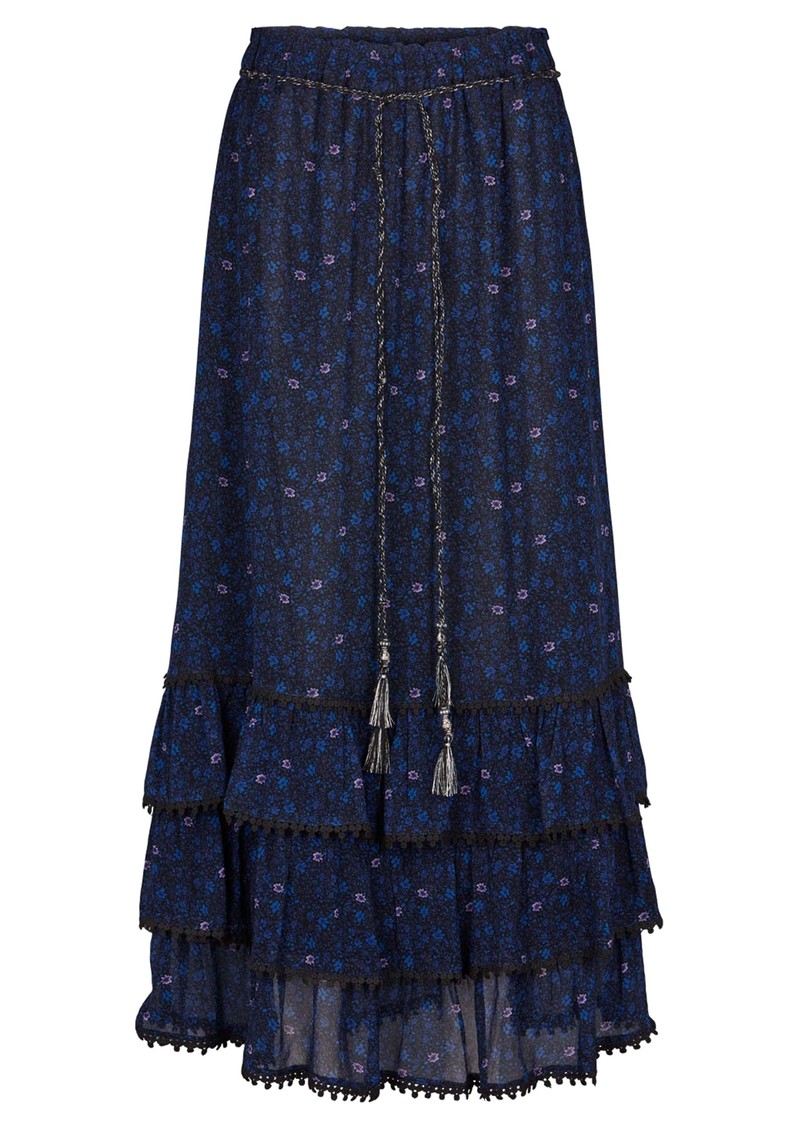 MOLIIN Amara Printed Skirt - Mazarine Blue main image