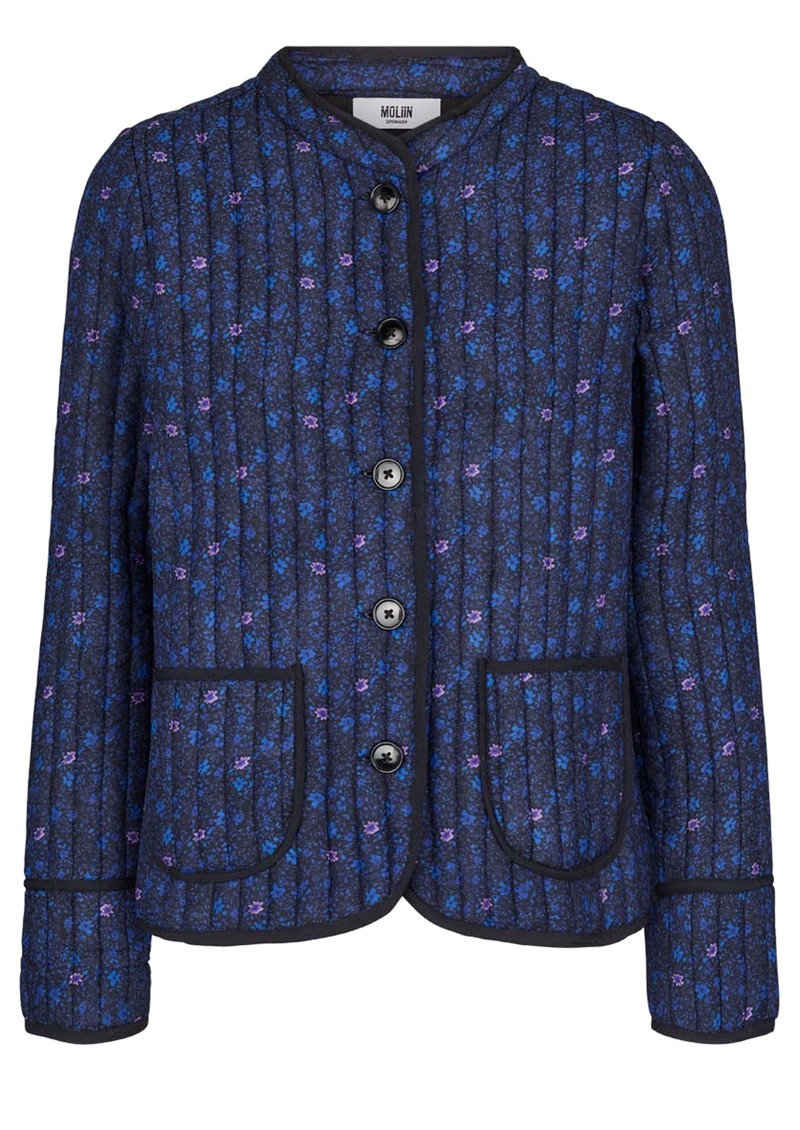 MOLIIN Rachel Cotton Mix Quilted Jacket - Mazarine Blue main image
