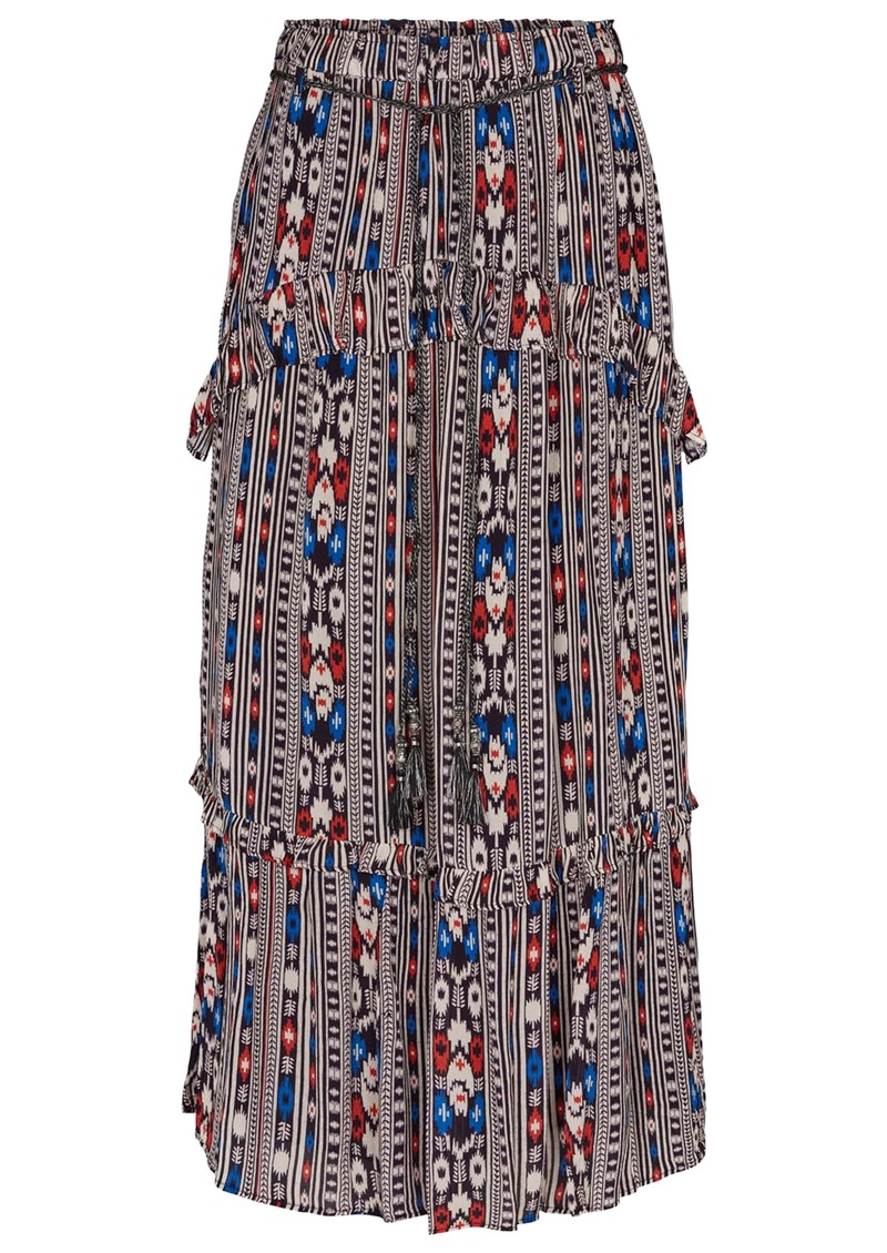 MOLIIN Mia Printed Skirt - Evening Blue main image