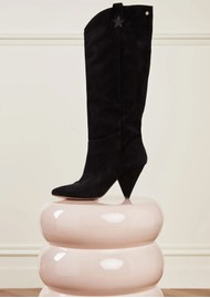 FABIENNE CHAPOT Josefin Suede Knee Boots - Black