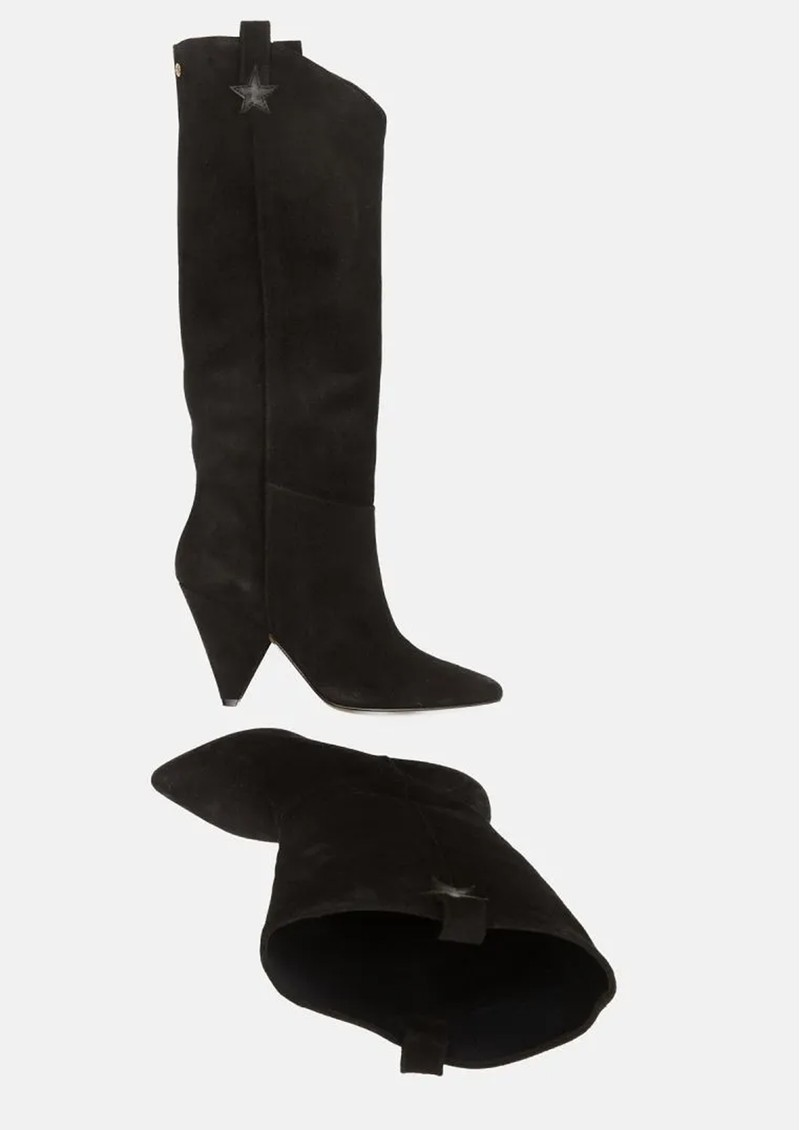 FABIENNE CHAPOT Josefin Suede Knee Boots - Black  main image