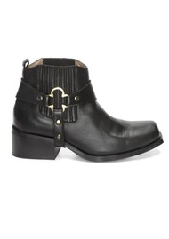 FABIENNE CHAPOT Angie Clover Leather Ankle Boot - Black