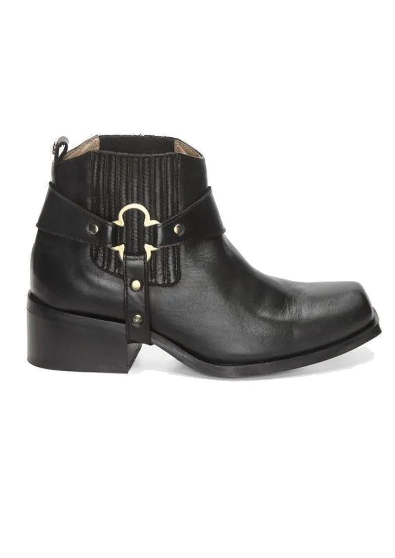 FABIENNE CHAPOT Angie Clover Leather Ankle Boot - Black  main image