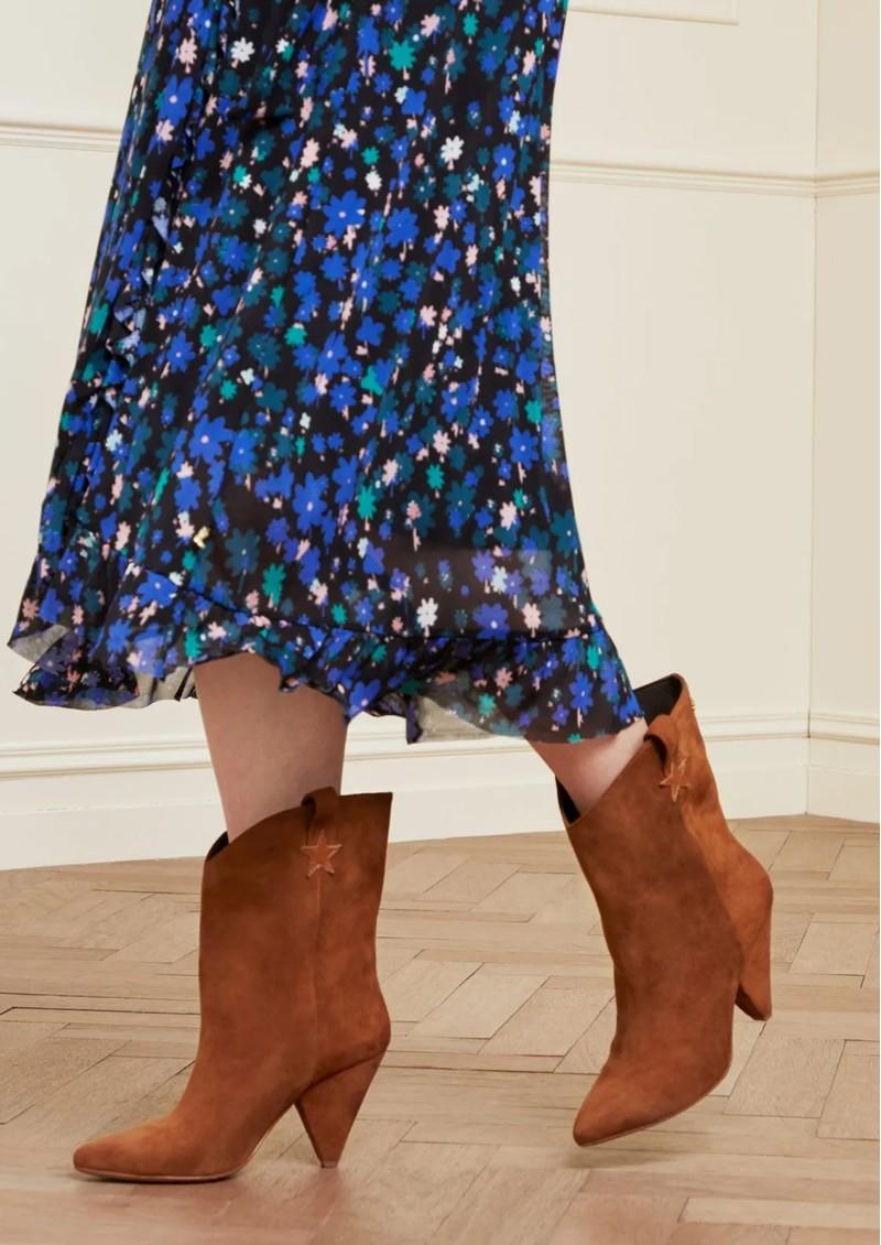 FABIENNE CHAPOT Josefin Suede Ankle Boots - Cognac main image