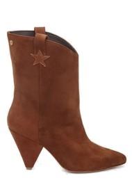 FABIENNE CHAPOT Josefin Suede Ankle Boots - Cognac