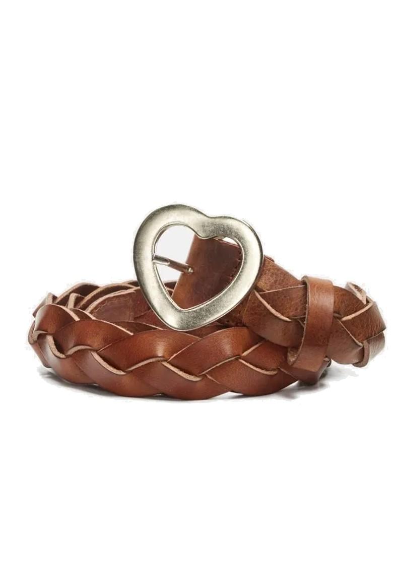 FABIENNE CHAPOT Braidy Leather Heart Belt - Cognac main image