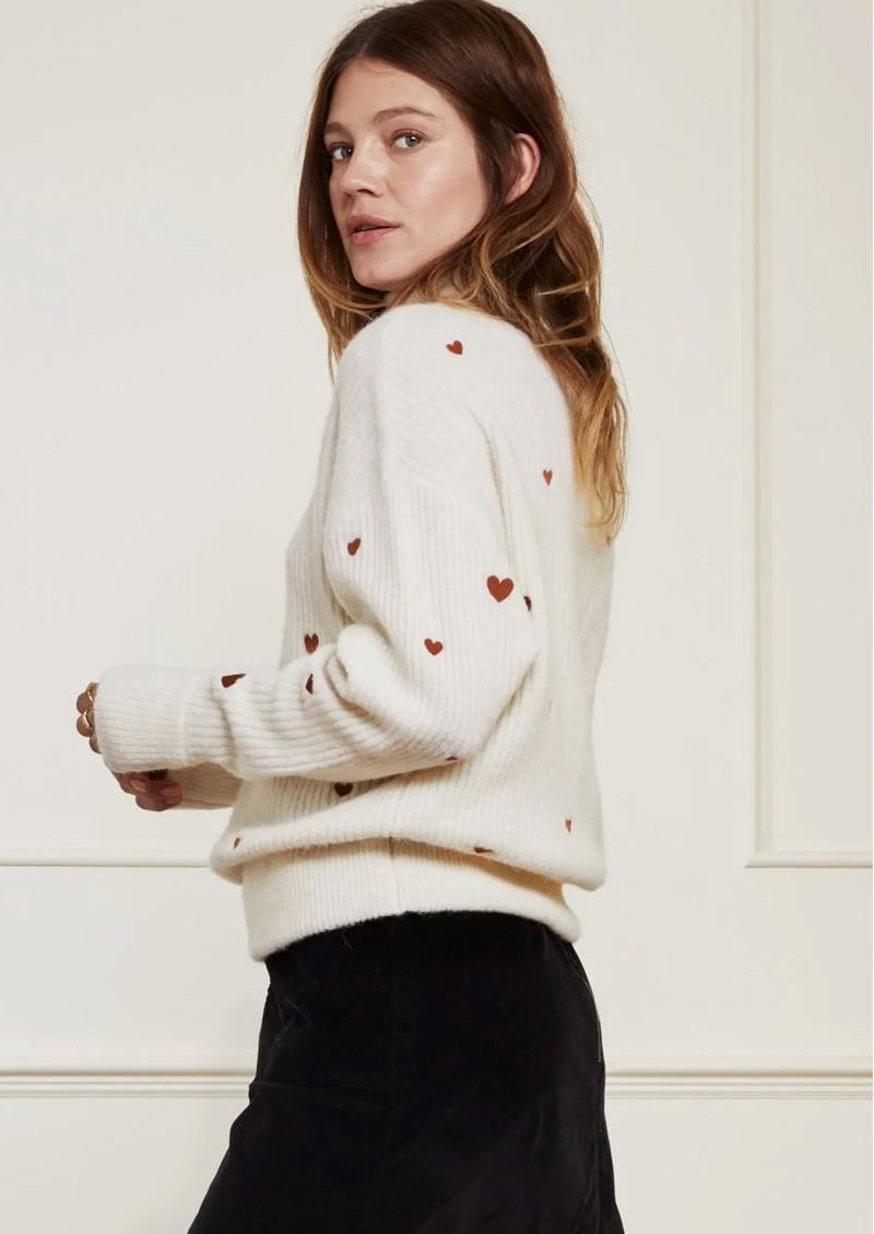 FABIENNE CHAPOT Oliviana Pullover - Cream & Cognac main image