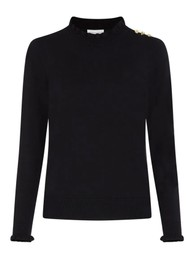 FABIENNE CHAPOT Molly Frill Pullover - Black