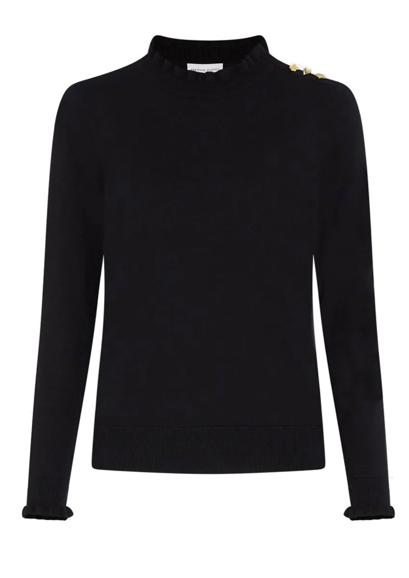 FABIENNE CHAPOT Molly Frill Pullover - Black  main image