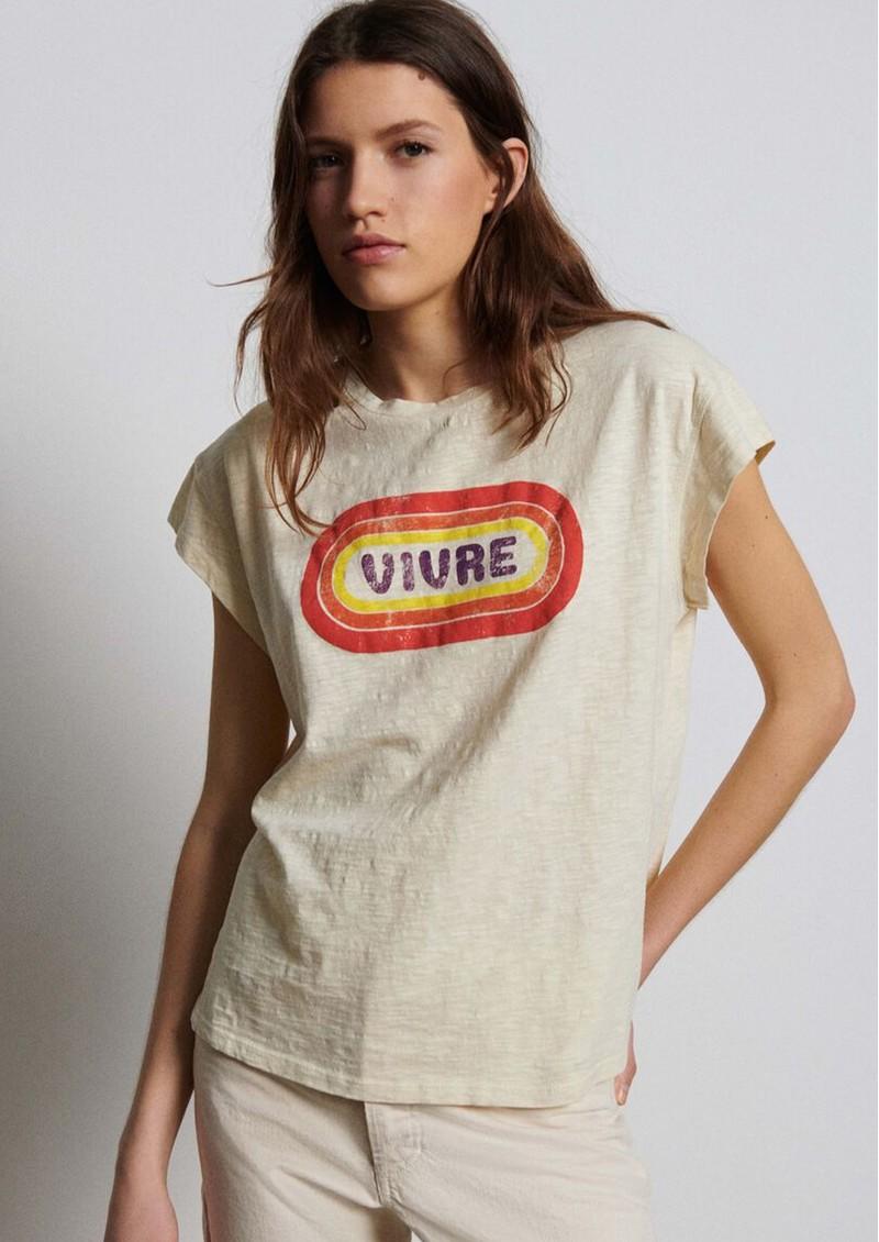 Ba&sh Rooky Cotton T-shirt - Creme main image