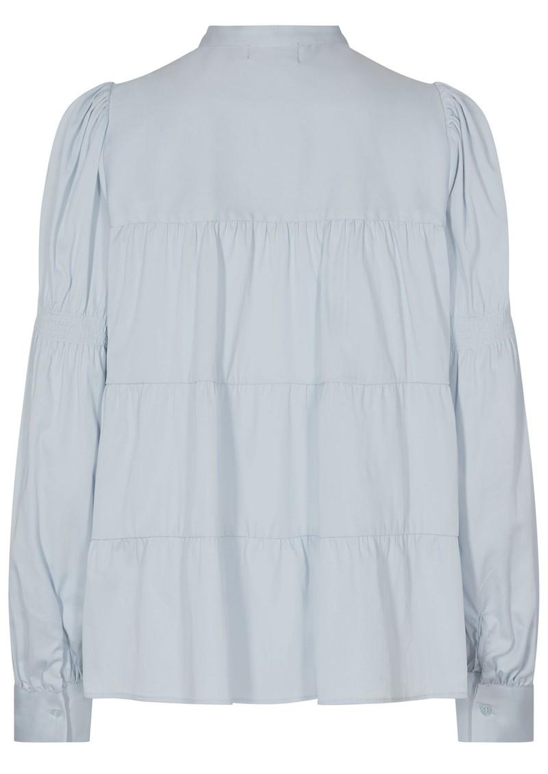LEVETE ROOM Isla Solid 15 Cotton Mix Blouse - Blue main image