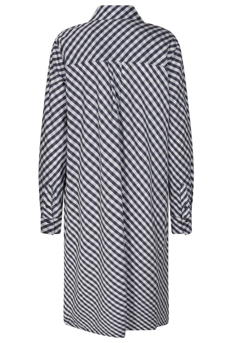 LEVETE ROOM Kamma 4 Striped Shirt Dress - Navy main image