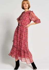 MOLIIN Olga Floral Printed Dress - Rose Violet