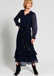 MOLIIN Amara Printed Skirt - Mazarine Blue