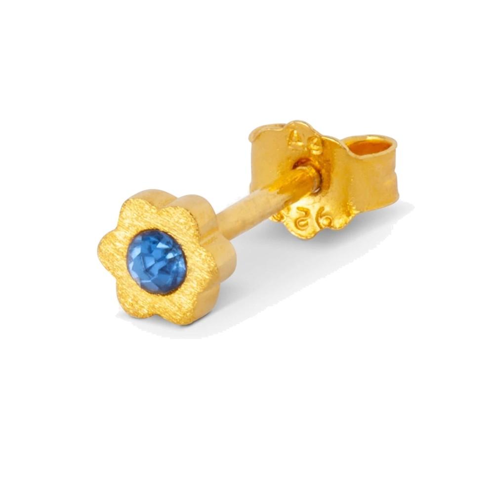 Blomst Stud Earring - Blue