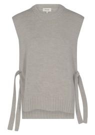 LEVETE ROOM Gymla 6 Knitted Vest - Grey