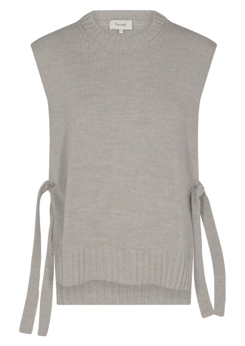 LEVETE ROOM Gymla 6 Knitted Vest - Grey main image