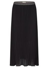 LEVETE ROOM Fabianna 5 Pleated Skirt - Black