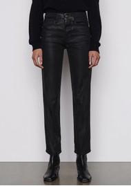 Frame Denim Le Sylvie High Rise Straight Coated Jeans - Noir
