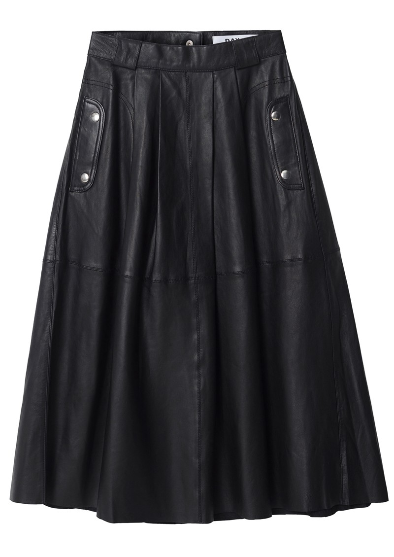 Day Birger et Mikkelsen Dagmar Leather A-Line Skirt - Black main image