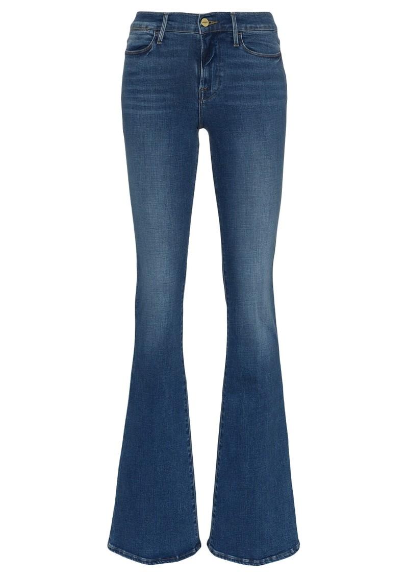 Frame Denim Le High Flare High Rise Jeans - Lupine main image