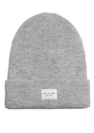 RAG & BONE Addison Ribbed Wool Beanie Hat - Grey