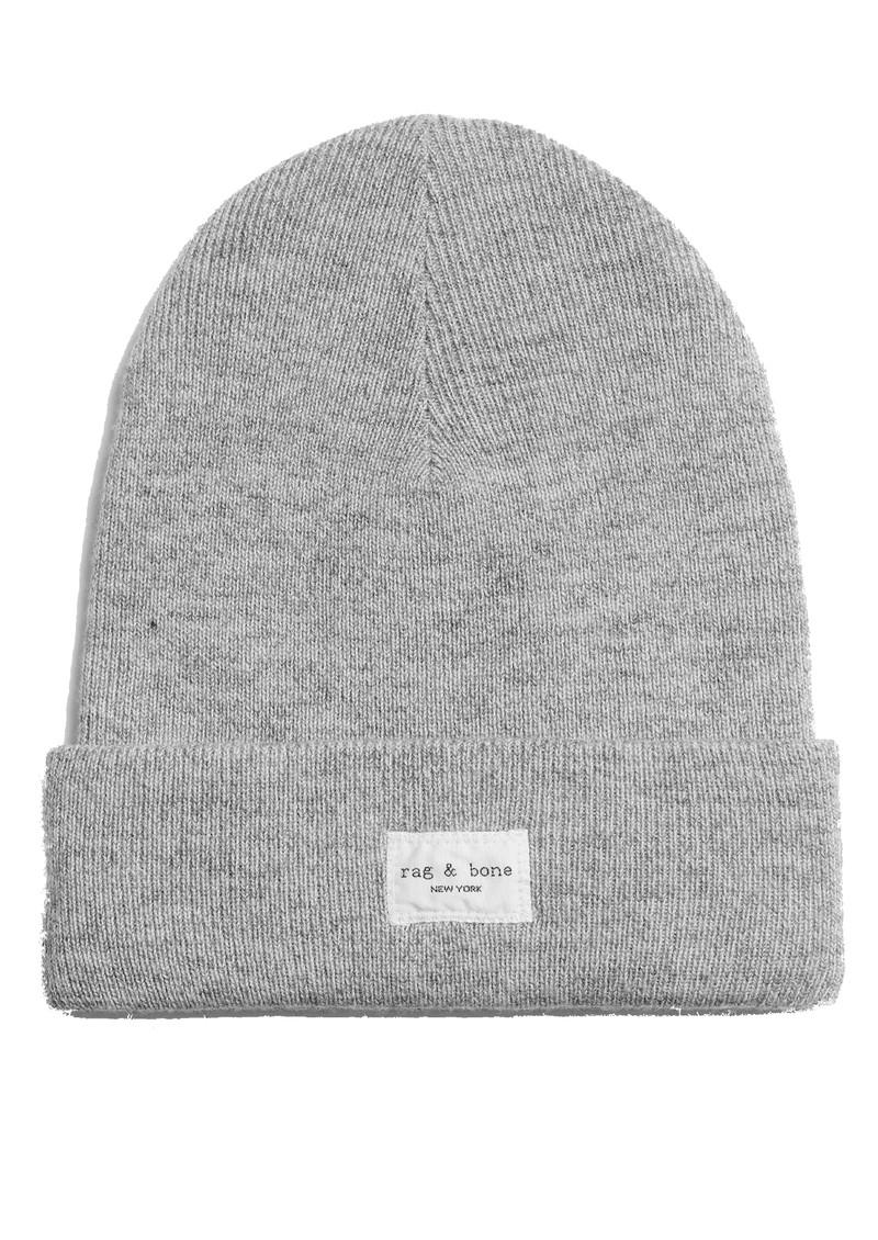 RAG & BONE Addison Ribbed Wool Beanie Hat - Grey main image
