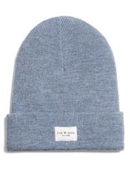 RAG & BONE Addison Ribbed Wool Beanie Hat - Light Blue