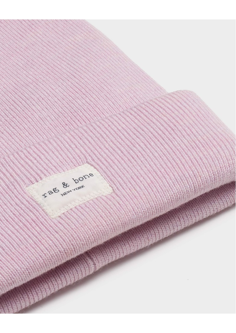 RAG & BONE Addison Ribbed Wool Beanie Hat - Lilac main image