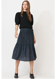MAYLA Leia Midi Smock Skirt - Daisy Print