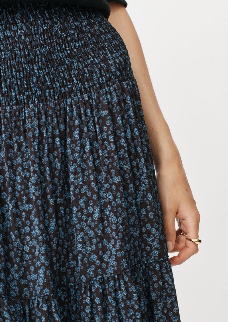 MAYLA Leia Midi Smock Skirt - Daisy Print main image