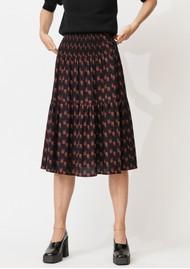 MAYLA Leia Midi Smock Skirt - Wisteria Print