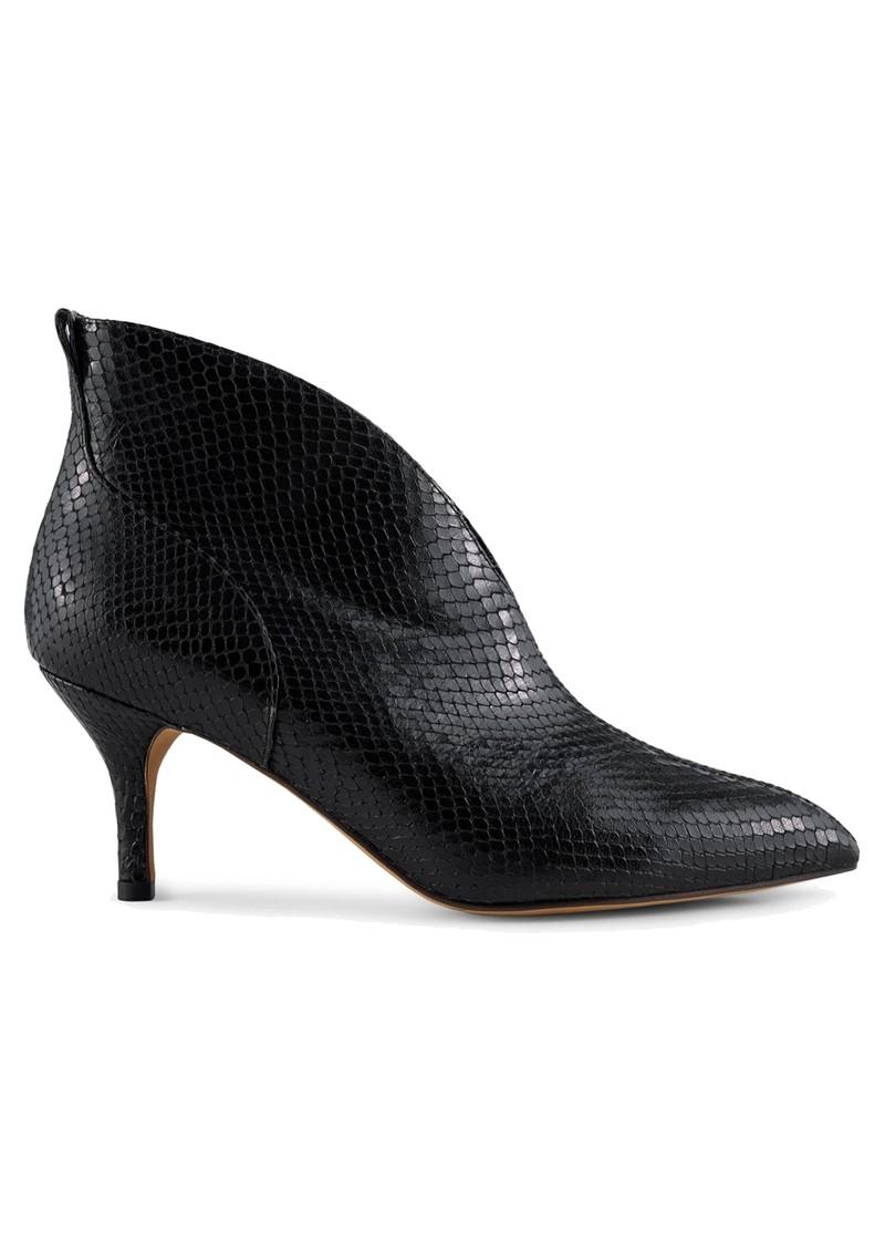 SHOE THE BEAR Valentine Low Cut Snake Leather Heel Shoe Boot - Black main image