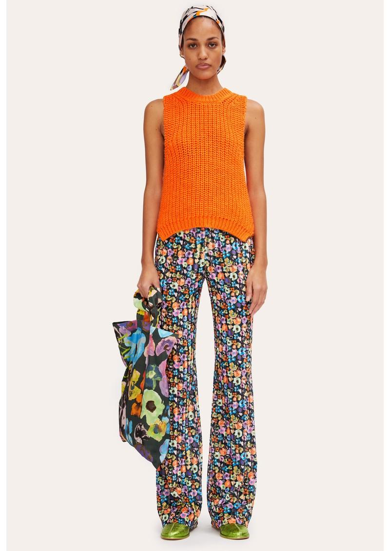 STINE GOYA Annemarie Wool Mix Knitted Vest - Orange main image