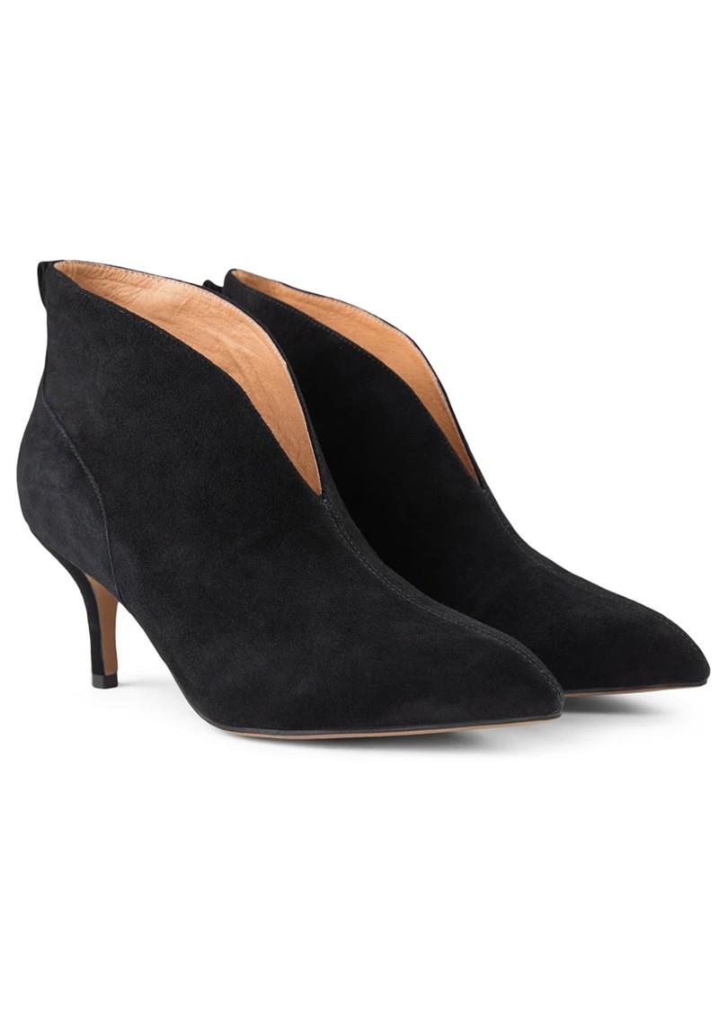 SHOE THE BEAR Valentine Low Cut Suede Heel Shoe Boot - Black main image