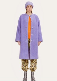 STINE GOYA Beth Fleece Coat - Lilac