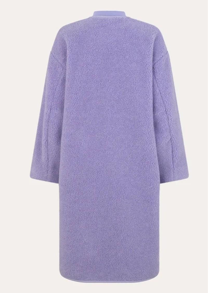 STINE GOYA Beth Fleece Coat - Lilac main image