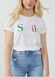 SOUTH PARADE Lola Smile Pima Cotton Tee - White Multi
