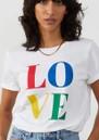 Lola Love Pima Cotton Tee - White Multi additional image