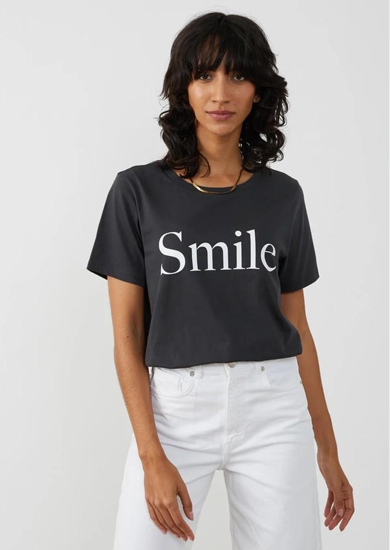 SOUTH PARADE Lola Smile Pima Cotton Tee - Black main image