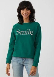 SOUTH PARADE Rocky Smile Cotton Sweatshirt - Forest Green
