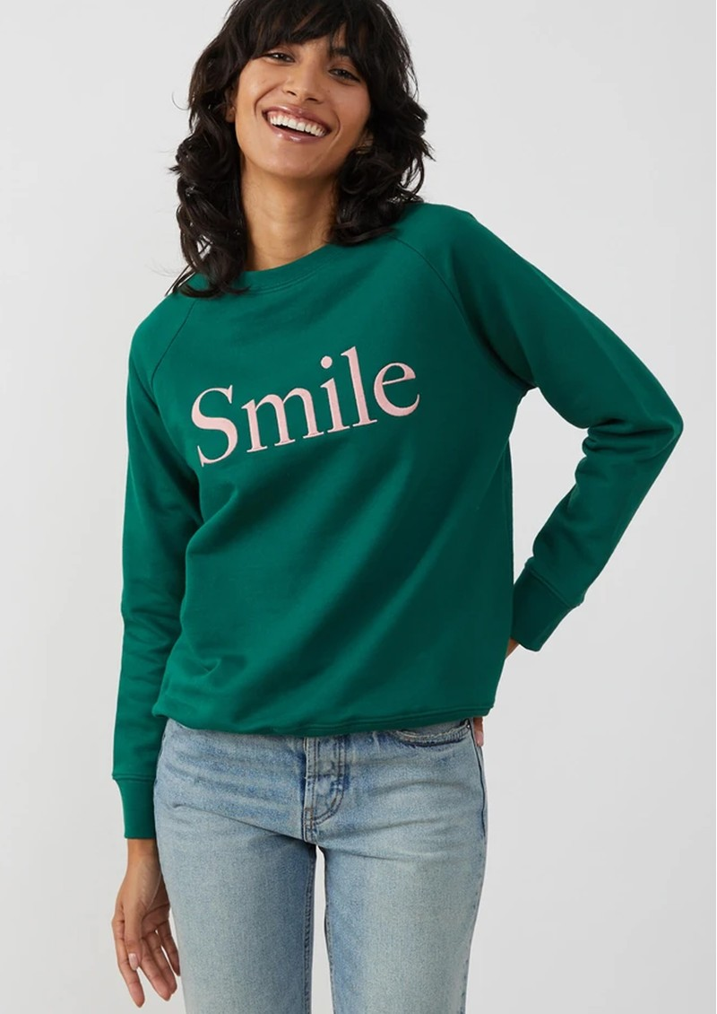 SOUTH PARADE Rocky Smile Cotton Sweatshirt - Forest Green main image