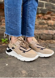 D.A.T.E Fuga Nylon Running Trainer - Taupe
