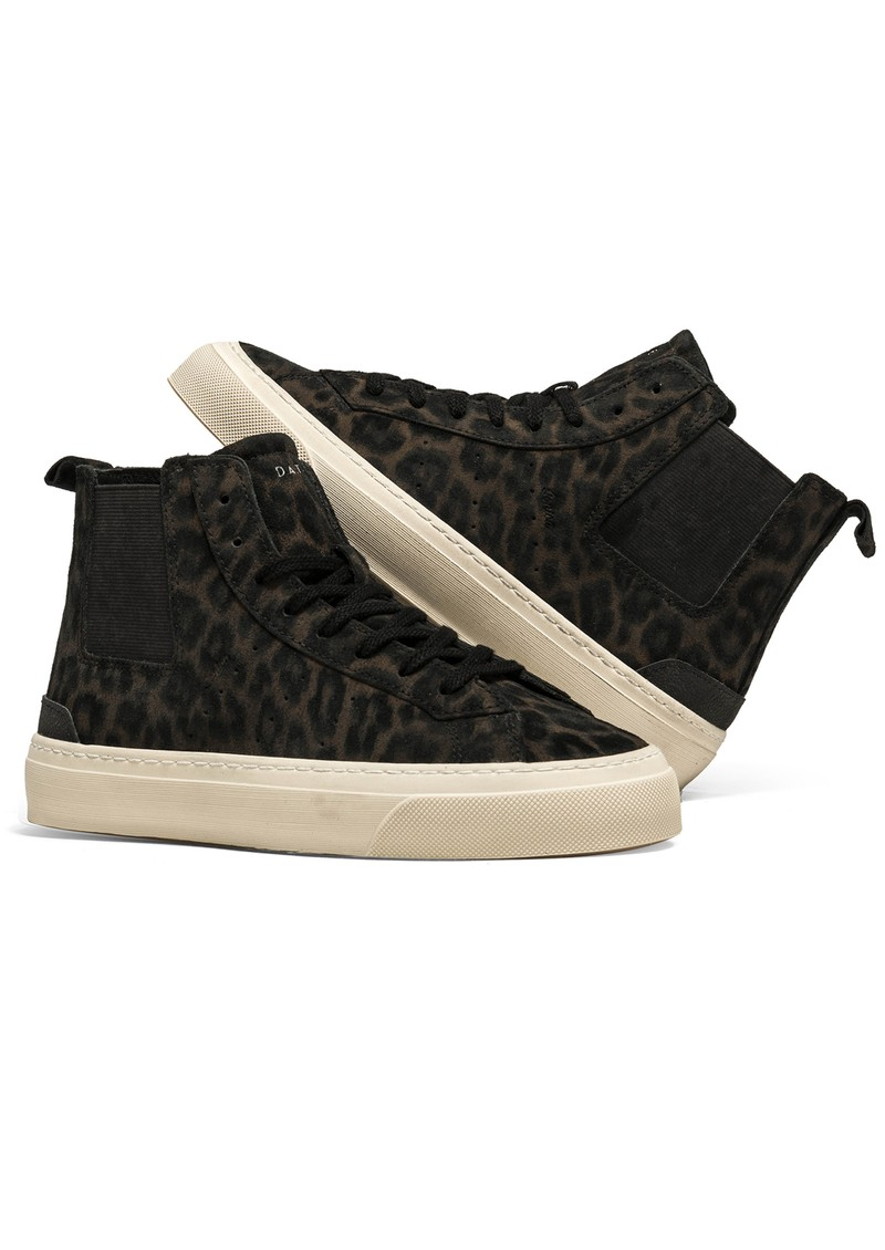 D.A.T.E Sonica High Animalier Suede Trainers - Leopard main image