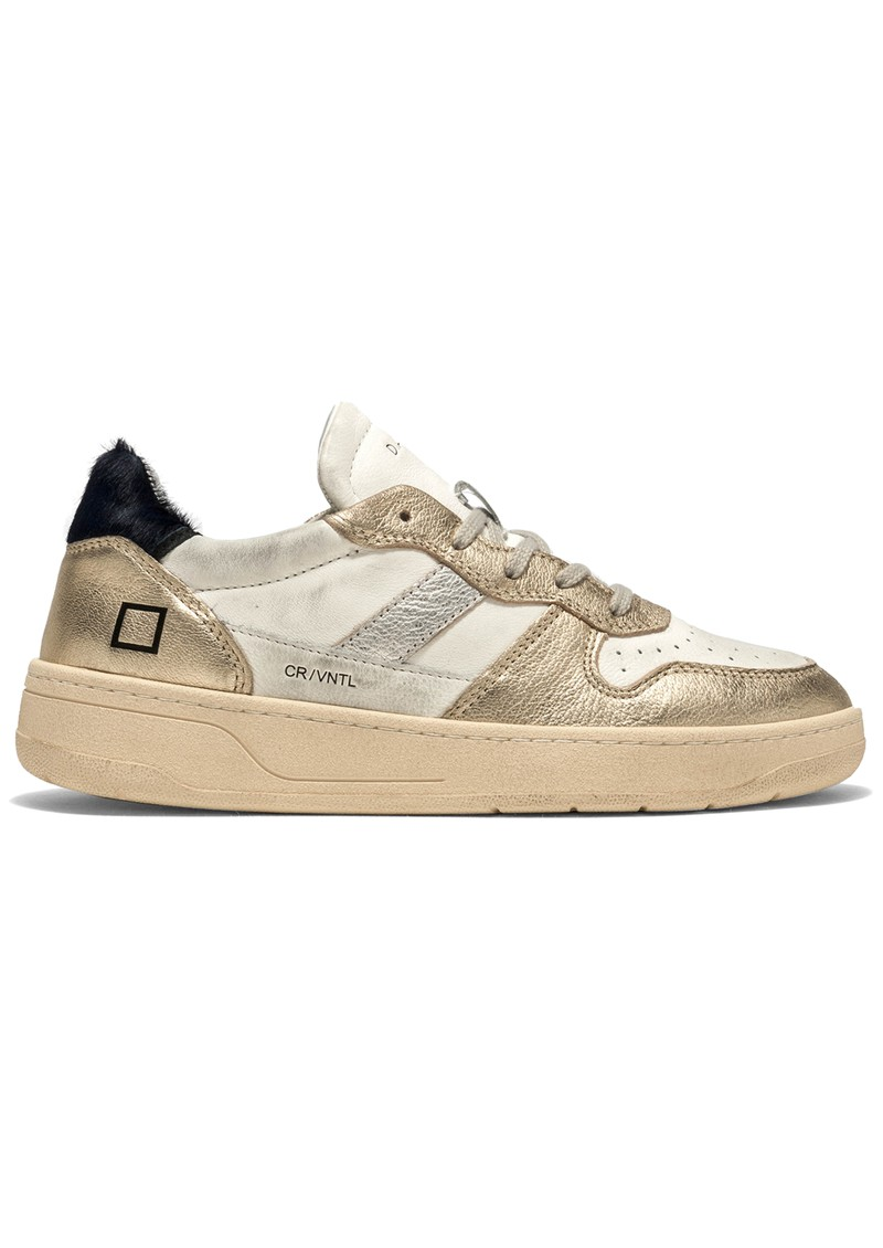D.A.T.E Court 2.0 Low Top Leather Trainers - Laminated Platino main image