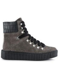 SHOE THE BEAR Agda Suede Lace Up Boot - Dark Grey