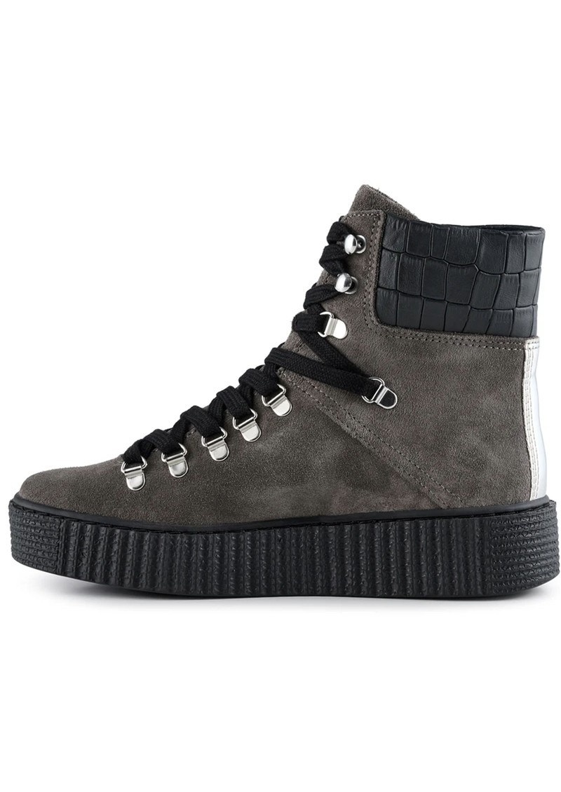 SHOE THE BEAR Agda Suede Lace Up Boot - Dark Grey main image